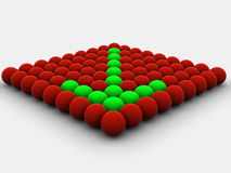 Seta das esferas ilustração do vetor