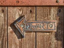 Seta de cobre com texto Imagem de Stock Royalty Free