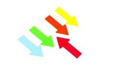 Seta de encontro à tendência Imagens de Stock