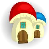 Seta de hadas de la casa en un fondo blanco libre illustration