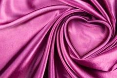 Seta del cuore Fotografia Stock