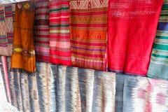 Seta di seta tailandese del Laos Fotografia Stock