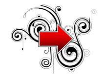 Seta direita Imagem de Stock