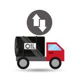 Seta do crescimento do óleo do caminhão de tanque baixa ilustração royalty free
