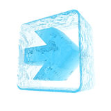 Seta do gelo Fotografia de Stock Royalty Free