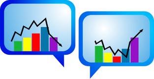 Seta do gráfico de negócio Foto de Stock Royalty Free