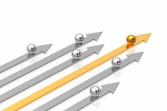 Seta do sucesso com liderança Imagens de Stock