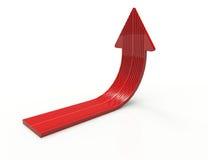 seta do vermelho 3D Imagens de Stock