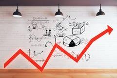 Seta do vermelho do conceito do sucesso Imagens de Stock Royalty Free