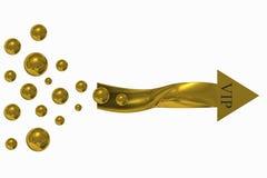 Seta dourada vip Imagens de Stock