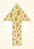 seta e dólar Fotos de Stock