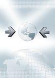 Seta e globo do negócio Ilustração do Vetor