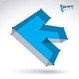seta inversa colorida na moda da malha 3d isolada no backgro branco Fotografia de Stock