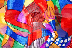 Seta Multi-coloured Fotografie Stock