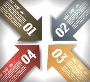 A seta projeta o molde de Infographics Imagem de Stock Royalty Free