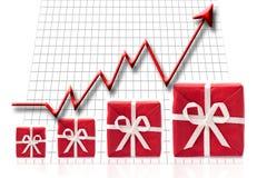 Seta que vai conceito acima, do sucesso e da recompensa Imagens de Stock Royalty Free