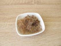 Seta secca ed affettata del cereale Fotografia Stock