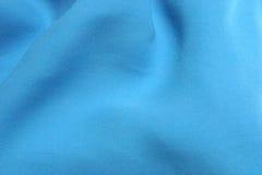 Seta strutturata blu del Aqua Fotografia Stock