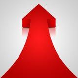 Seta vermelha ilustração stock