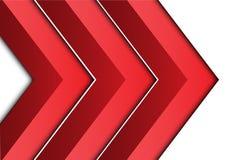 Seta vermelha abstrata 3D no vetor futurista moderno do fundo do projeto branco do sentido Fotografia de Stock Royalty Free