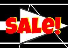 Seta vermelha da venda para Web site Foto de Stock