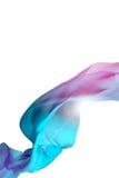 Seta volante isolata, tessuto Wave Royalty Illustrazione gratis