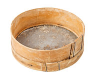 Setaccio di legno Immagine Stock