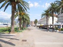 Setaliste季节,在海滩旁边在蒂瓦特,黑山 免版税库存照片