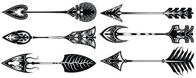 Setas étnicas ajustadas ilustração do vetor