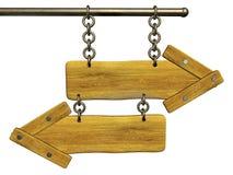 setas 3d de madeira retros Fotos de Stock