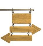 setas 3d de madeira retros Fotografia de Stock Royalty Free