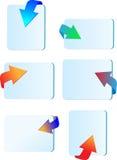 Setas 3d do ícone Foto de Stock