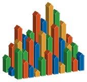 setas 3D que levantam-se verticalmente Imagem de Stock Royalty Free