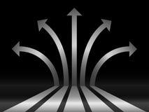Setas abstratas da prata 3d ilustração do vetor