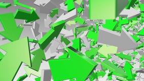 Setas abstratas em verde e em branco ilustração royalty free