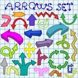 Setas ajustadas Imagem de Stock Royalty Free