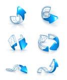 Setas ajustadas, desenhando Imagem de Stock Royalty Free