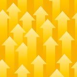 Setas amarelas Foto de Stock Royalty Free