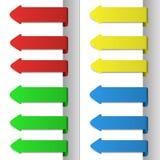 Setas apontando coloridas Imagem de Stock