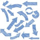 Setas azuis ajustadas Foto de Stock