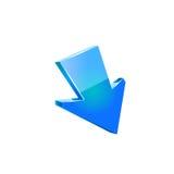 Setas azuis Vetor Fotografia de Stock Royalty Free