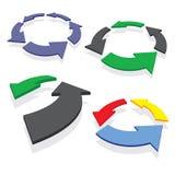 Setas circundadas ajustadas Imagens de Stock