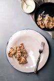 Setas cocinadas del mízcalo servidas Fotografía de archivo