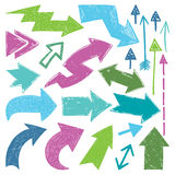 Setas coloridas Imagens de Stock