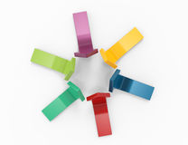 Setas coloridas Fotografia de Stock