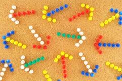 Setas coloridas com aleatório Foto de Stock