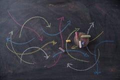 Setas coloridas curvilíneas Imagens de Stock