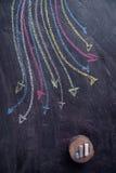 Setas coloridas curvilíneas Imagens de Stock Royalty Free