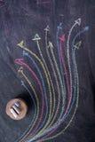 Setas coloridas curvilíneas Imagem de Stock Royalty Free