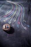 Setas coloridas curvilíneas Fotos de Stock